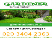 Gardener Services Hackney London