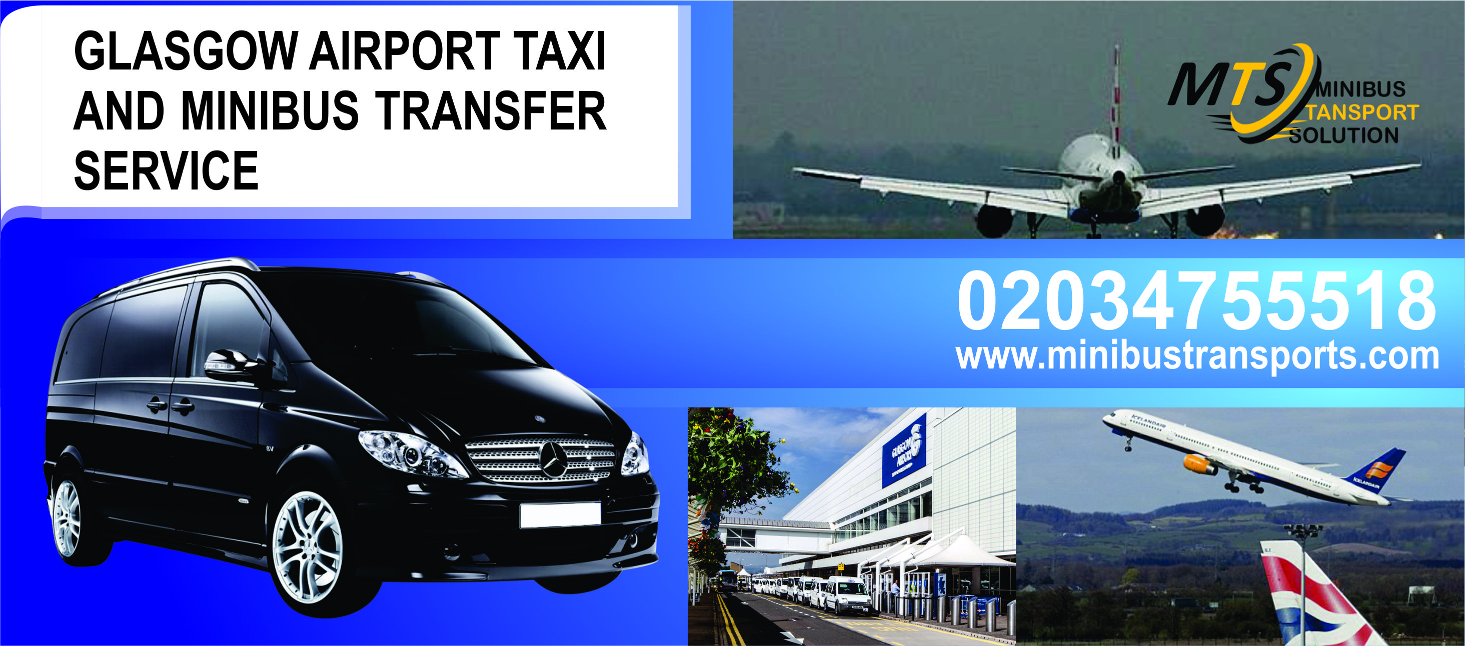 Glasgow Airport Taxis and Minibus Transfer London